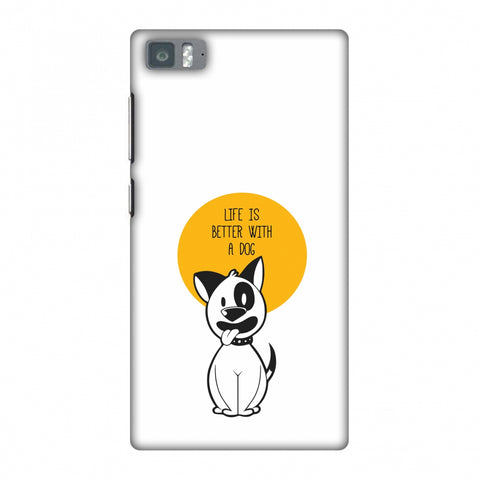 Life Is Better With A Dog Slim Hard Shell Case For Xiaomi Mi 3 - AMZER Print