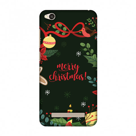 Christmas Cheer Slim Hard Shell Case For Xiaomi Redmi 4A - AMZER Print