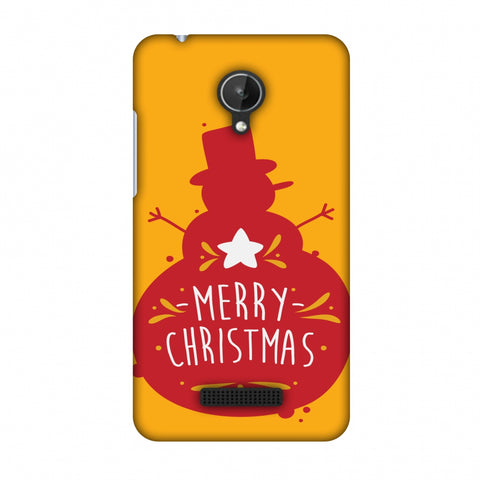 Very Merry Christmas Slim Hard Shell Case For Micromax Canvas Spark Q380