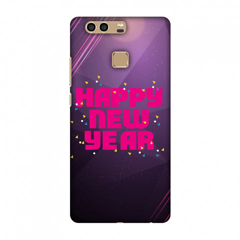 Happy New Year Slim Hard Shell Case For Huawei P9