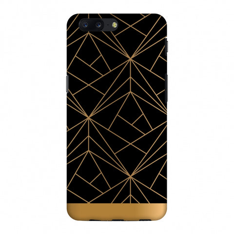 Golden Elegance II Slim Hard Shell Case For OnePlus 5