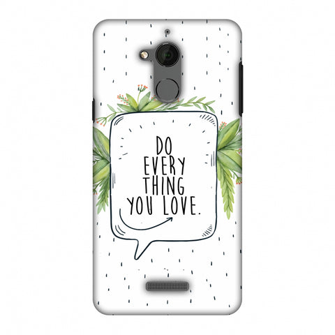 Do Everything You Love Slim Hard Shell Case For Coolpad Note 5 - AMZER Print