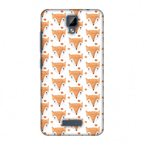 Pretty Patterns: Foxes Slim Hard Shell Case For Gionee P7 - AMZER Print