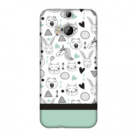 Pretty Patterns: Unicorns Slim Hard Shell Case For HTC One M8 - AMZER Print