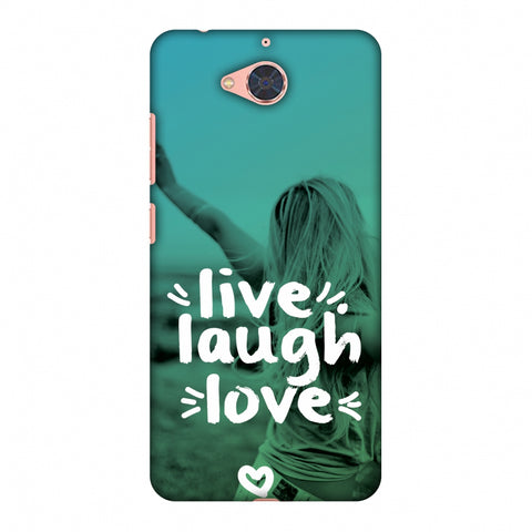 Live Laugh Love Slim Hard Shell Case For Gionee S6 Pro