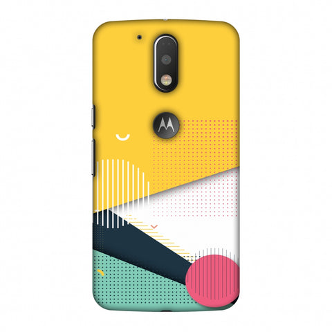 Dots And Stripes Slim Hard Shell Case For Motorola Moto G4