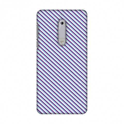 CheckeRed In Purple Slim Hard Shell Case For Nokia 5 - AMZER Print