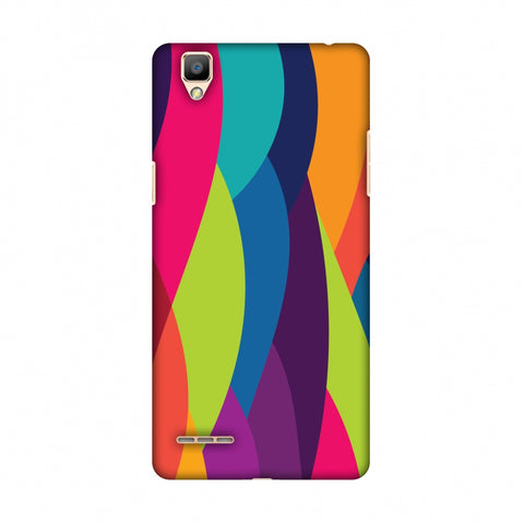 Bold Waves Slim Hard Shell Case For OPPO F1 - AMZER  Print