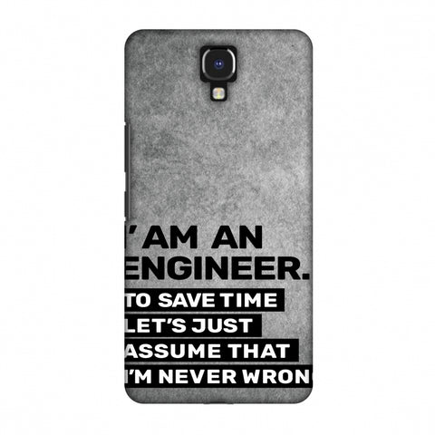Proud To Be A Engineer 3 Slim Hard Shell Case For Infinix Note 4 - AMZER Print