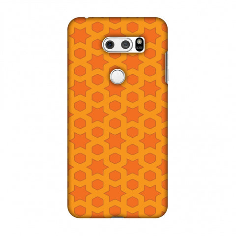 Geometric Flowers 1 Slim Hard Shell Case For LG V30