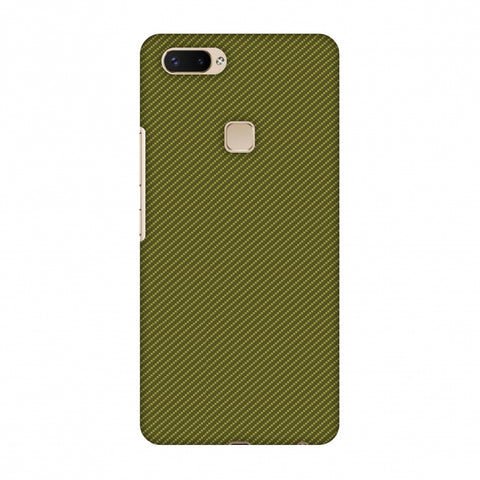 Golden Lime Texture Slim Hard Shell Case For Vivo X20 Plus