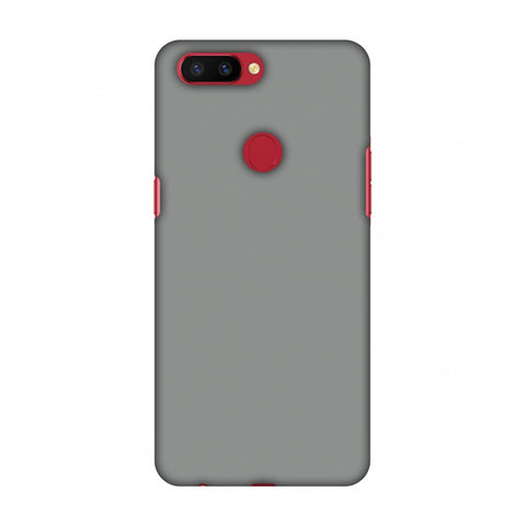 Neutral Grey Slim Hard Shell Case For Oppo R11s