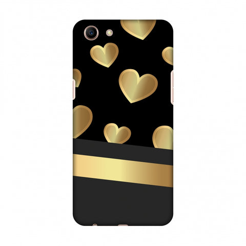 Golden Hearts Slim Hard Shell Case For OPPO A83