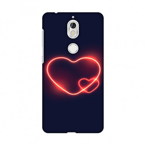 Glowing Heart Slim Hard Shell Case For Nokia 7