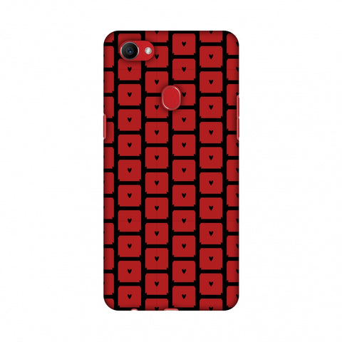 Small Hearts Pattern Slim Hard Shell Case For Oppo F7