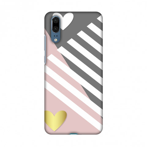 Geometric Shapes & Hearts Slim Hard Shell Case For Huawei P20