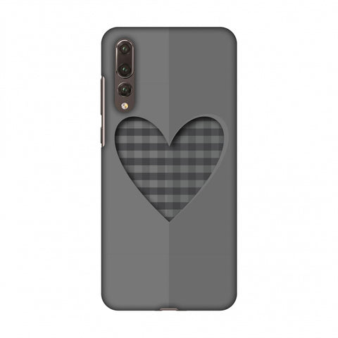 Grey Heart Slim Hard Shell Case For Huawei P20 Pro