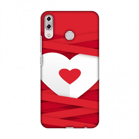 Heart In Ribbons Slim Hard Shell Case For Asus Zenfone 5Z ZS620KL
