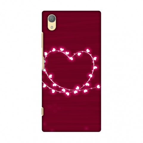 Heart Lights Slim Hard Shell Case For Sony Xperia XA1 Plus