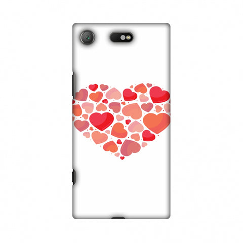 Hearts Within A Heart Slim Hard Shell Case For Sony Xperia XZ1 Compact