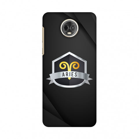 Black Aries Slim Hard Shell Case For Motorola Moto E5 Plus