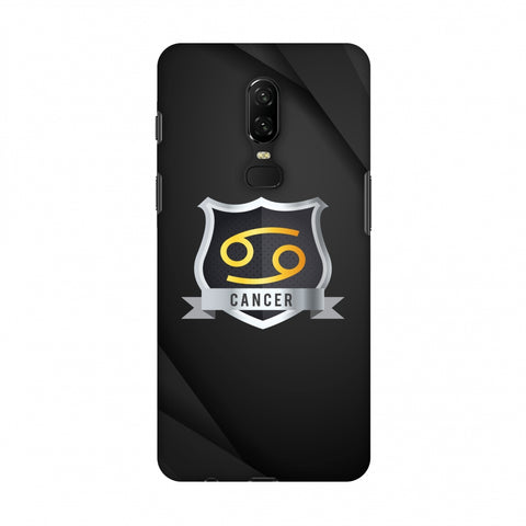 Black Cancer Slim Hard Shell Case For OnePlus 6
