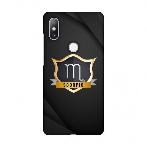 Black Scorpio Slim Hard Shell Case For Xiaomi Mi Mix 2S