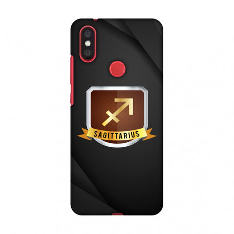 Black Sagittarius Slim Hard Shell Case For Xiaomi Mi A2