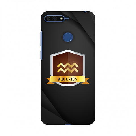 Black Aquarius Slim Hard Shell Case For Huawei Honor 7A