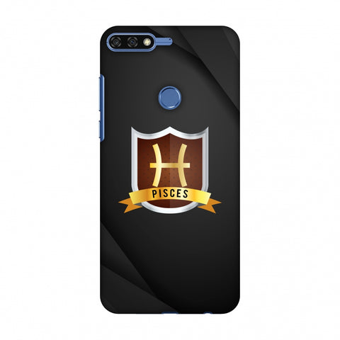 Black Pisces Slim Hard Shell Case For Huawei Honor 7C
