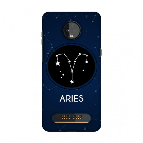Stars Aries Slim Hard Shell Case For Motorola Moto Z3 Play