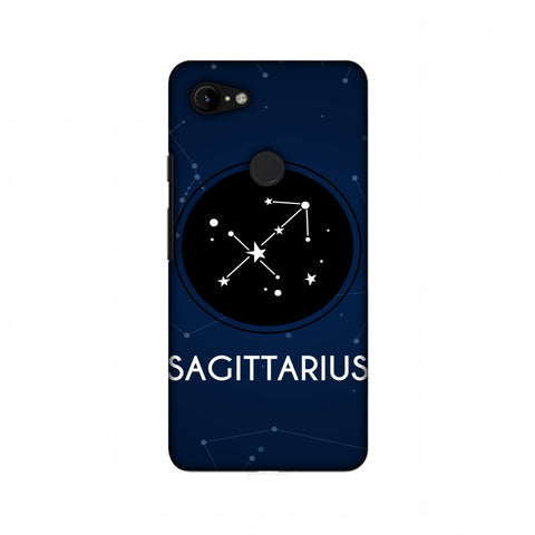Stars Sagittarius Slim Hard Shell Case For Google Pixel 3