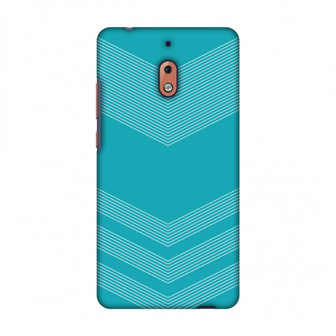 Carbon Fibre Redux Aqua Blue 2 Slim Hard Shell Case For Nokia 2.1