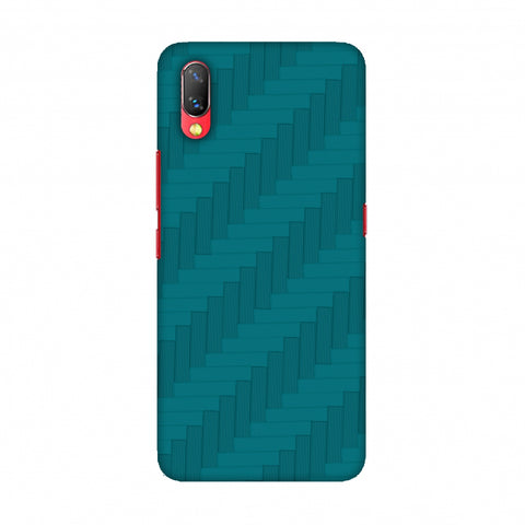 Carbon Fibre Redux Aqua Blue 8 Slim Hard Shell Case For Vivo NEX