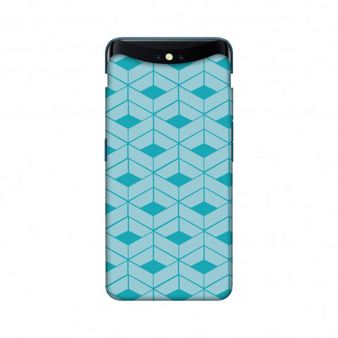 Carbon Fibre Redux Aqua Blue 9 Slim Hard Shell Case For Oppo Find X