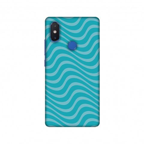 Carbon Fibre Redux Aqua Blue 10 Slim Hard Shell Case For Xiaomi Mi 8 SE