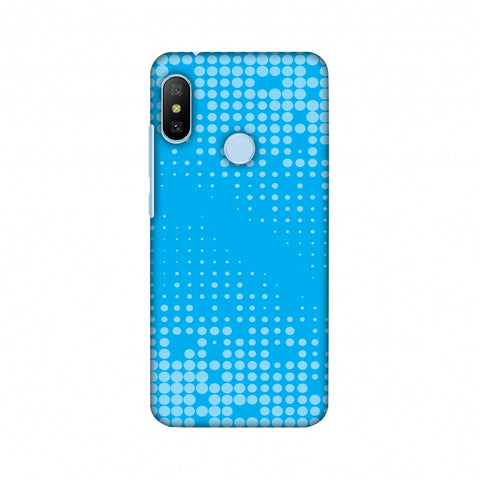 Carbon Fibre Redux Aqua Blue 12 Slim Hard Shell Case For Xiaomi Mi A2 Lite
