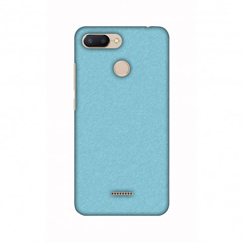 Carbon Fibre Redux Aqua Blue 15 Slim Hard Shell Case For Xiaomi Redmi 6