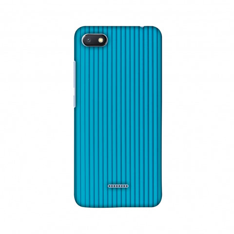 Carbon Fibre Redux Aqua Blue 16 Slim Hard Shell Case For Xiaomi Redmi 6A