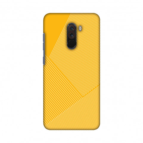 Carbon Fibre Redux Cyber Yellow 1 Slim Hard Shell Case For Xiaomi Poco F1