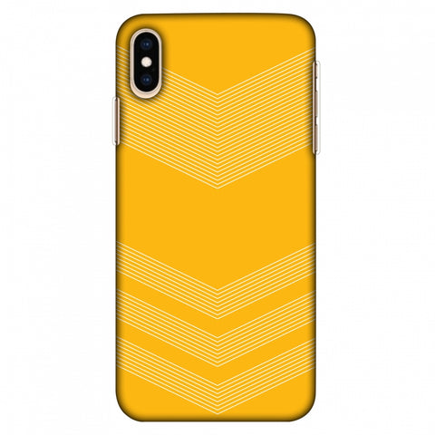Carbon Fibre Redux Cyber Yellow 2 Slim Hard Shell Case For Apple iPhone Xs Max