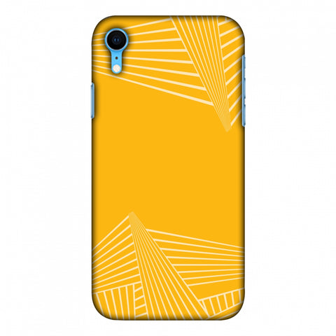 Carbon Fibre Redux Cyber Yellow 3 Slim Hard Shell Case For Apple iPhone Xr