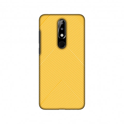 Carbon Fibre Redux Cyber Yellow 4 Slim Hard Shell Case For Nokia 5.1 Plus
