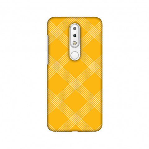 Carbon Fibre Redux Cyber Yellow 5 Slim Hard Shell Case For Nokia 6.1 Plus