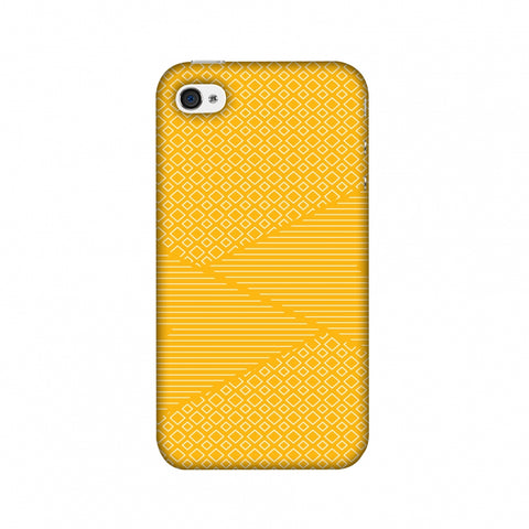 Carbon Fibre Redux Cyber Yellow 6 Slim Hard Shell Case For Apple iPhone 4-4S