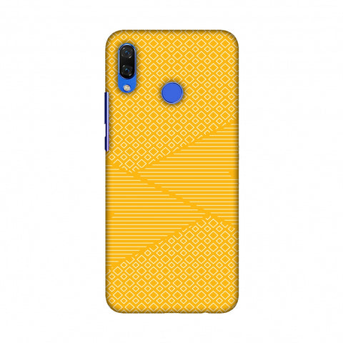Carbon Fibre Redux Cyber Yellow 6 Slim Hard Shell Case For Huawei Nova 3