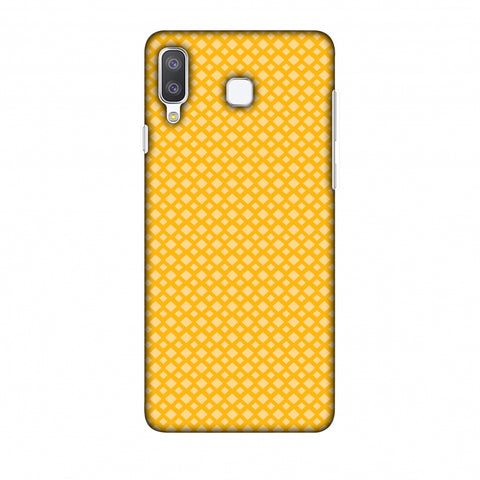 Carbon Fibre Redux Cyber Yellow 7 Slim Hard Shell Case For Samsung Galaxy A8 Star