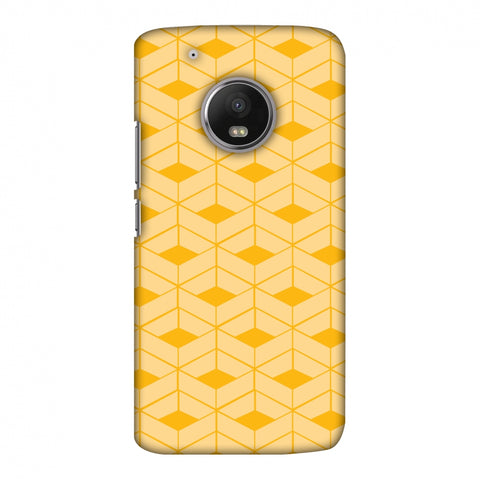 Carbon Fibre Redux Cyber Yellow 8 Slim Hard Shell Case For Motorola Moto G5 Plus