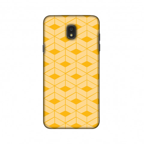 Carbon Fibre Redux Cyber Yellow 8 Slim Hard Shell Case For Samsung Galaxy J7 2018