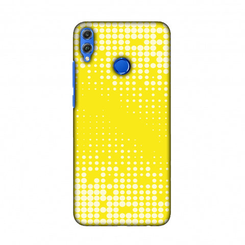 Carbon Fibre Redux Cyber Yellow 10 Slim Hard Shell Case For Huawei Honor 8X